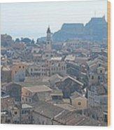 Corfu City 2 Wood Print