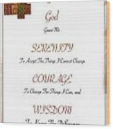 1 Corinthians 13 13 Find Serenity With Faith Hope And Love Wood Print