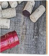 Corks With Bottle Wood Print