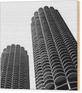 Corn Buildings Chicago Wood Print