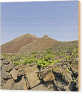 Corona Volcano On Lanzarote Wood Print