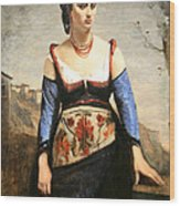 Corot's Agostino Wood Print