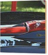 Corvette Torch Wood Print