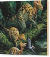 Corythosaurus Wood Print