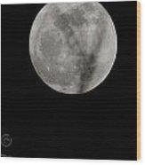 Cosmos Moon Wood Print