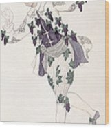 Costume Design For The Pageboy Wood Print