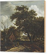 Cottages In A Wood Wood Print