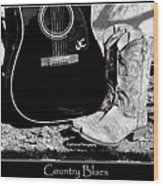 Country Blues Wood Print