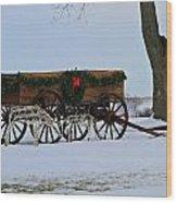 Country Christmas Wood Print