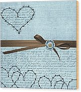 Country Hearts Wood Print