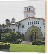 Courthouse Santa Barbara Wood Print