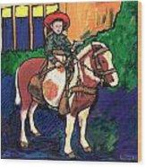 Cowboy Dale Wood Print