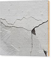 Cracked Stucco Wood Print