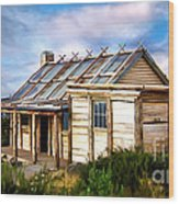 Craigs Hut Wood Print by Shannon Rogers