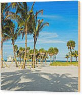 Crandon Park Beach Wood Print