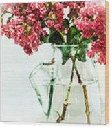 Crepe Myrtle In A Vase Wood Print