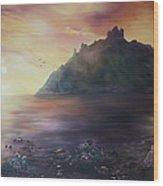 Criccieth Castle North Wales Wood Print