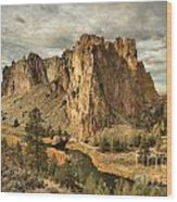 Crooked River Bend Wood Print