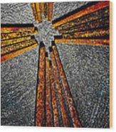 Cross Of Nails Wood Print