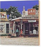 Crossroads Store Bar Juke Joint And Gas Station Fsa Marion Post Wolcott Melrose Louisiana Wood Print