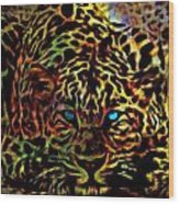 Crouching Cheetah Wood Print