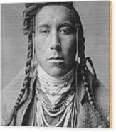Crow Indian Man Circa 1908 Wood Print by Aged Pixel