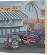 Cruizin' At Da L.a. Pit Wood Print