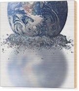 Crumbling Earth Wood Print