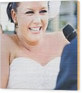 Crying And Laughing Bride Wood Print