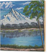 Crystal Mountain Wood Print