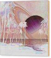 Crystal Sunset Wood Print