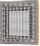 Crystal White And Gray Dots Design Pattern Shade Deco Decoration Wood Print