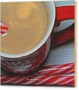 Cup Of Christmas Cheer - Candy Cane - Candy -  Irish Cream Liquor Wood Print