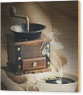 Cup Of Coffee Wood Print