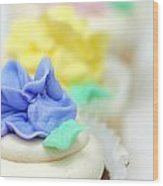Cupcakes Shallow Depth Of Field Wood Print