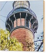 Currituck Beach Lighthouse On The Outer Banks Of North Carolina Wood Print
