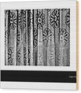 Curtained Window Wood Print by Xoanxo Cespon