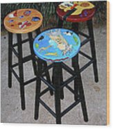 Custom Barstools Wood Print