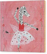 Custom Child's Zebra Ballerina Wood Print by Kristi L Randall