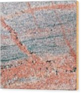 Cut Surface Showing Granite Invading Gneiss Wood Print