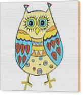 Cute Owl Wood Print