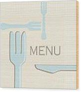 Cutlery Wood Print