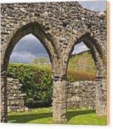 Cymer Abbey Snowdonia Wood Print