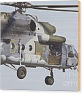 Czech Air Force Mi-171 Hip Helicopter Wood Print