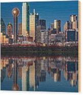 Dallas Skyline Wood Print