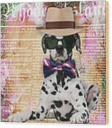 Dalmatian Bowtie Collection Wood Print
