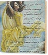 Dancing In Glory Wood Print