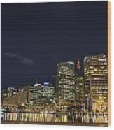 Darling Harbour In Sydney Australia Wood Print