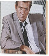 Darren Mcgavin Wood Print by Silver Screen