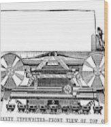 Daugherty Typewriter, 1895 Wood Print